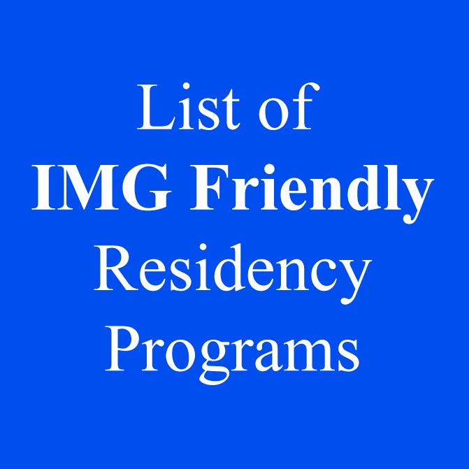 MyResidencyList com Blog - IMG Friendly Residency Programs